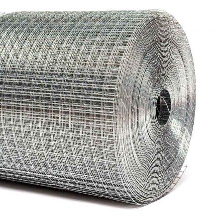 13x13x0,8mm ponthegesztett háló 25m tekercsben