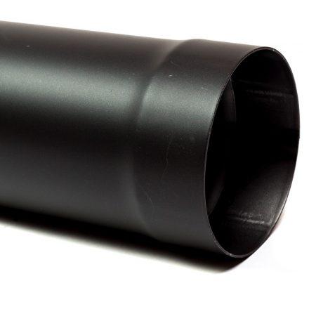 120 kandallócső fekete vastagfalú (50cm)