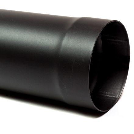 130 kandallócső fekete vastagfalú (50cm)