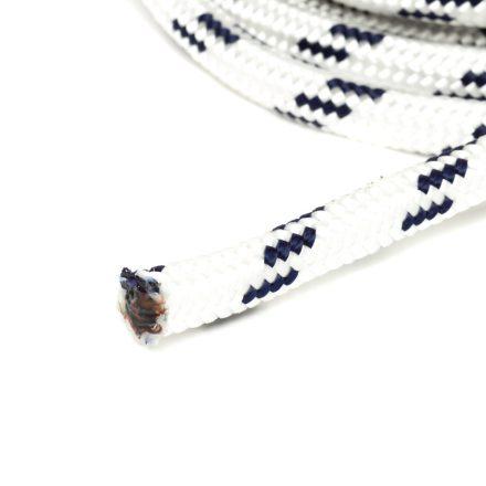 8mm fehér fonatolt kötél PP