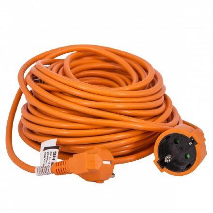 Földelt lengő hosszabbító 30m narancssárga 10A