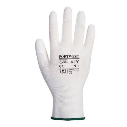 Poliamid szerelőkesztyű fehér A120 10/XL