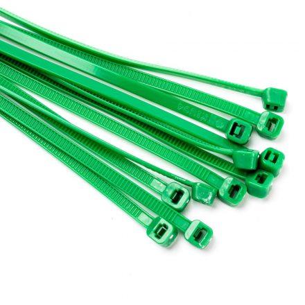 140x3,6mm gyorskötöző kábelkötegelő zöld