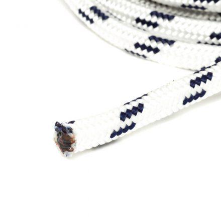 6mm fehér fonatolt kötél PP