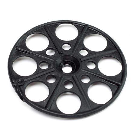 Szigetelésrögzítő tányér fa-fémszerkezetekhez lapos fekete 60mm