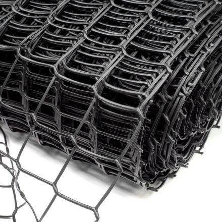 50*50mm műanyag kerti rács fekete