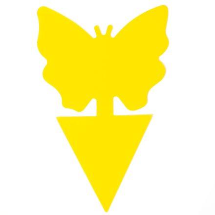 Sárga lap pillangó alakú 12db